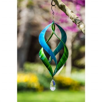 "20"" Kinetic Hanging Spinner, Blue/Green"