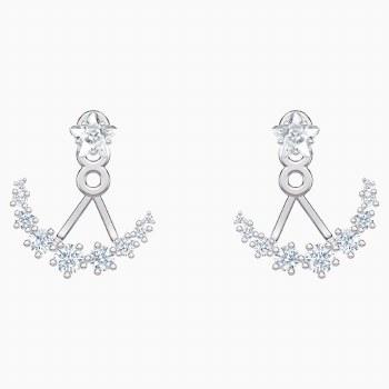 Swarovski Penélope Cruz Moonsun Pierced Earring Jackets, White, Rhodium plated