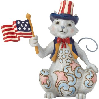 Jim Shore Cat With Flag