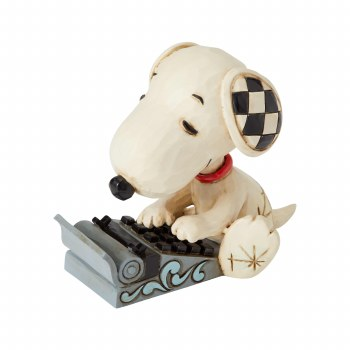 Jim Shore Snoopy Typing