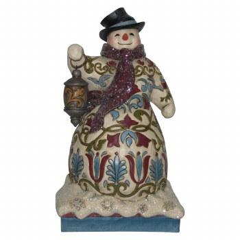 Jim Shore JS HWC Fig Vict Snowman With L