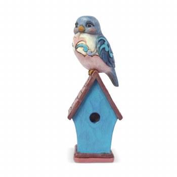 Jim Shore JS HWC Fig Mini Bluebird on Bi