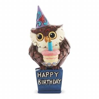 Jim Shore JS HWC Fig Mini Birthday Owl