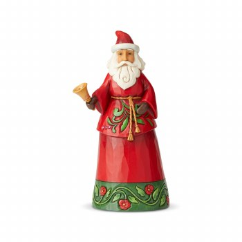 Jim Shore JS HWC Fig Santa With Bell