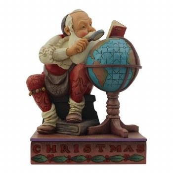 Jim Shore JS SAT Fig Santa With Globe