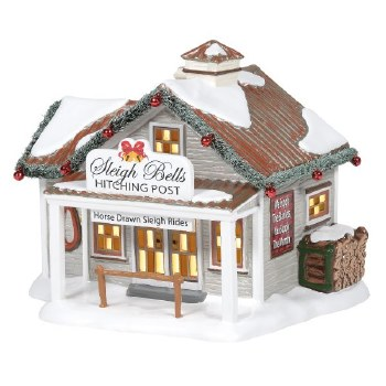 Department 56 Sleigh Bells Hitching Post