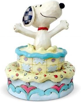 Jim Shore Snoopy On Cake