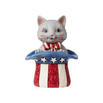 Jim Shore Mini Patriotic Kitten