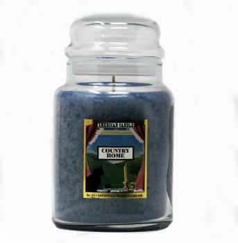 American Candle Country Home Blue 22 OZ Jar Candle
