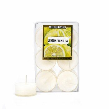 American Candle Lemon Vanilla Tea Lights Candle