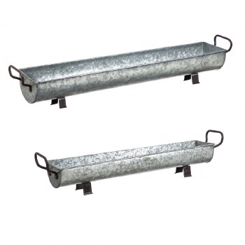 Galvanized long trough