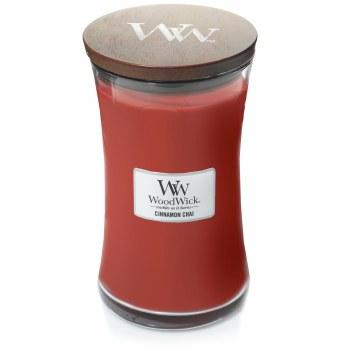 Woodwick Large Jar Cinnamon Chai