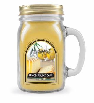 Lemon Pound Cake Mug Candle with Wood Wick