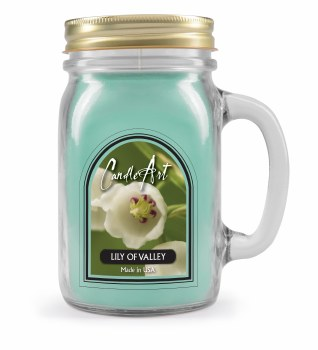 Lily of Valley Mug Candle with Wood Wick
