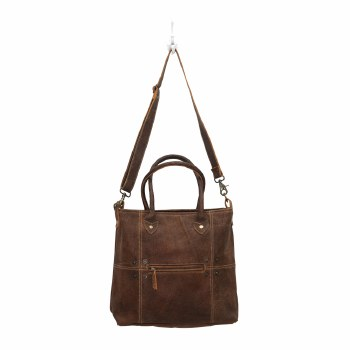 Button & Stitches Leather Bag