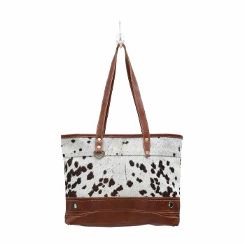 Combined Leather & Hairon Bag