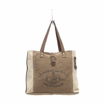 Provence Canvas Tote Bag