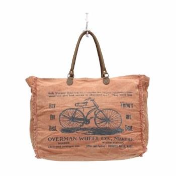 By-Cycle Print Weekender Bag