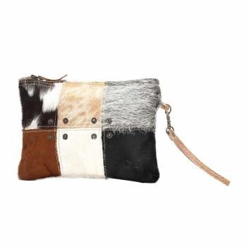 Button Hair-On Small Bag
