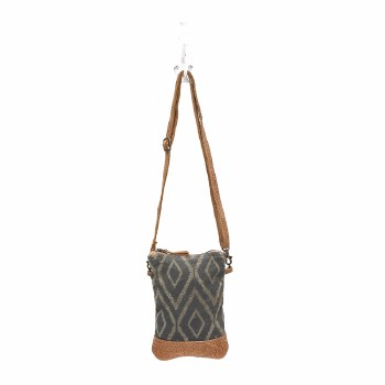 Chevron Print Cross Body Bag