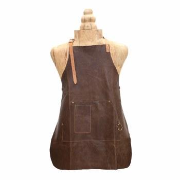 Dark Brown Leather Apron