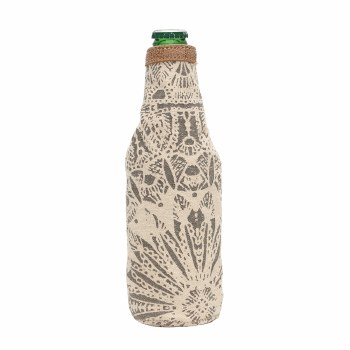 Flower Print Beer Koozie