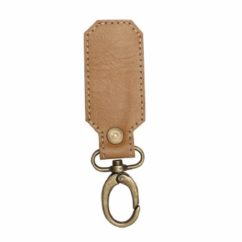 Light Brown Leather Key Fob