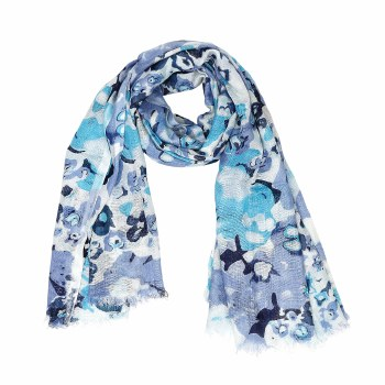 Abstract Blue Scarf