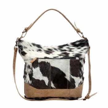 Dual Strap Hairon Shoulder Bag