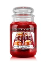 Country Candle 23oz Lg Jar: Salted Caramel Apple