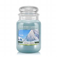 Country Candle 23oz Lg Jar: Cotton Fresh