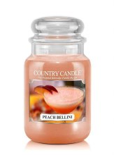 Country Candle 23oz Lg Jar: Peach Bellini