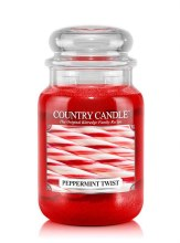 Country Candle 23oz Lg Jar: Peppermint Twist