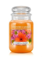 Country Candle 23oz Lg Jar: Sunshine & Daisies
