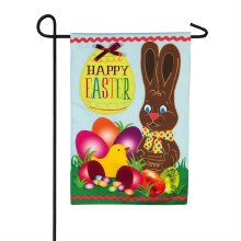 Happy Sweet Easter Garden Linen Flag
