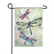 Dragonfly Beauty Garden Organza Flag