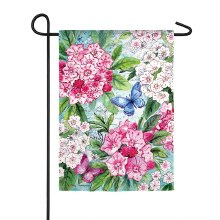 Mountain Laurel Garden Suede Flag