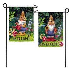 Garden Gnomes Garden Suede Flag