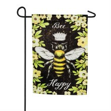 Bee Happy Queen Bee Garden Suede Flag