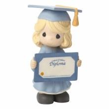 Precious Moments Girl Graduate Holding Diploma Figurine