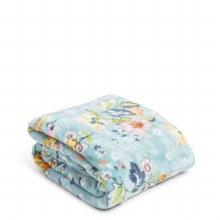 Vera Bradley Floating Garden Plush Throw Blanket