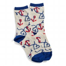 Vera Bradley Anchor Crew Socks
