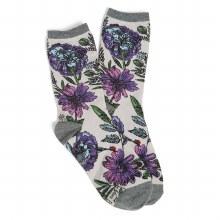 Vera Bradley Lavender Canvas Crew Socks