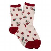Vera Bradley Lady Bug Crew Socks