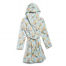 Vera Bradley Floating Garden Lightweight Fleece Robe (S/M)