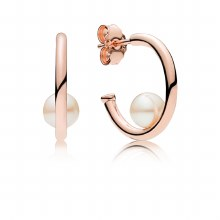 Hoop earrings in PANDORA Rose
