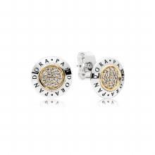 PANDORA logo stud earrings in