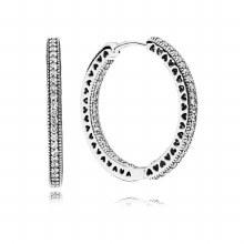 Pandora Hoop earrings in sterling silv