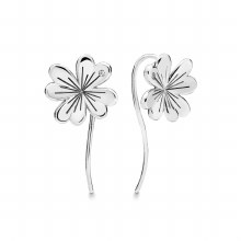 Clover earrings in sterling si