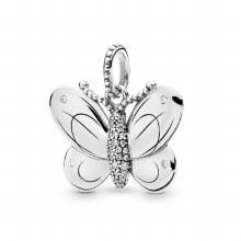 Butterfly pendant in sterling